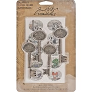 """Advantus™ Tim Holtz® Idea-Ology Collage Keys, 2 3/4"""" x 1"""", Antique Silver"""