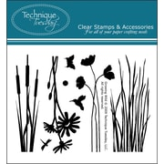 """Technique Tuesday® 3"""" x 4"""" Clear Stamp, Growing Wild"""