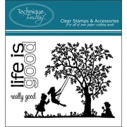 """Technique Tuesday® 3"""" x 4"""" Clear Stamp, Life Is Good"""