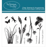 """Technique Tuesday® 3"""" x 4"""" Clear Stamp, Wildflowers"""