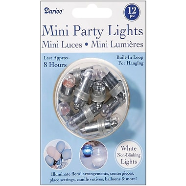 Darice VL429 White Mini Party Non-Blinking Lights, 1.25