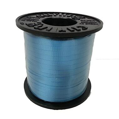 Ruban à friser 3/16 po, bleu turquoise, rouleau de 500 verges