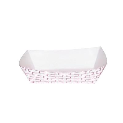 Boardwalk® 2.5 lbs. Paper Food Tray, Red Weave, 500/Case
