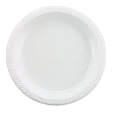 "Boardwalk® C-Impact 6"" Light Weight Plastic Plate, White, 1000/Case"