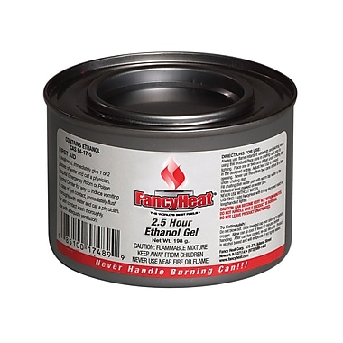 Fancy Heat® 2 1/2 Hrs 7 oz. Burner Ethanol Gel Chafing Fuel Can
