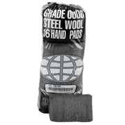 "Global Material Steel Wool Hand Pad, #0000, Finest, 4"" Wide, 12 Sleeves per case"