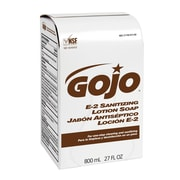 GOJO® 800 ml Sanitizing E2 Antibacterial Soap, Amber