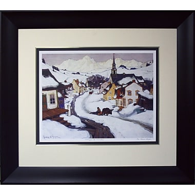 Village in the Laurentiens Framed by Clarence Gagnon