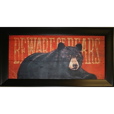 Observation Bear Framed by Penny Wagner