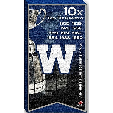 Winnipeg Blue Bombers Canvas, Grey Cup Champions