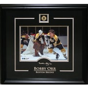 Bobby Orr Framed with Etched Signature