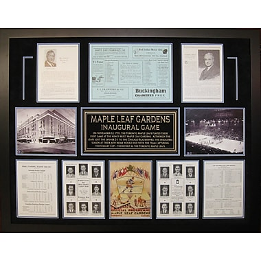 Framed Maple Leaf Gardens Inaugural Game Program Collage
