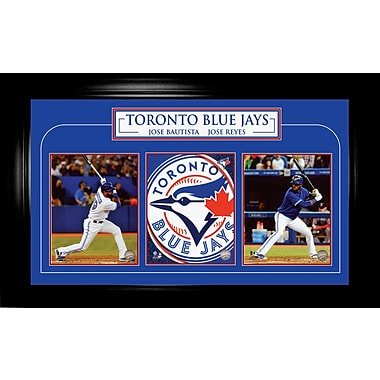 Jose Bautista et Jose Reyes, photo encadrée triple, Blue Jays de Toronto