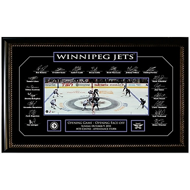 Winnipeg Jets Framed Photo - 2011 Opening Night with Etched Signatures