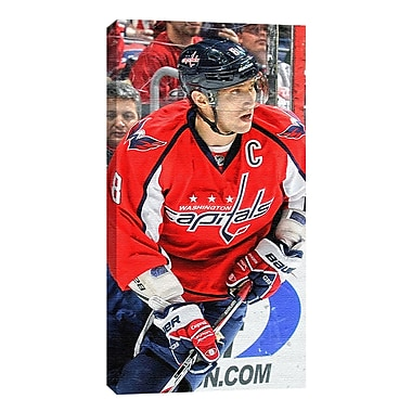 Alex Ovechkin Canvas, Washington Capitals, Dark Jersey
