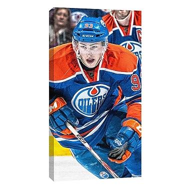 Ryan Nugent-Hopkins Canvas, Edmonton Oilers, Dark Jersey