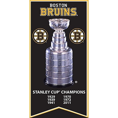 Boston Bruins Stanley Cup Banner Canvas, with Cup photo