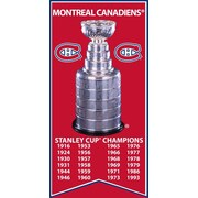 Montreal Canadiens Stanley Cup Banner Canvas, with Cup Photo