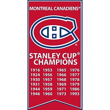 Montreal Canadiens Stanley Cup Banner Canvas, with Team Logo