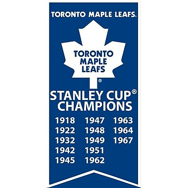 Toronto Maple Leafs Stanley Cup Banner Canvas, with Team Logo