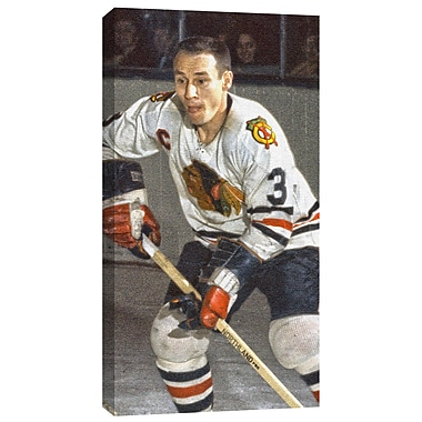 Pierre Pilote, toile, Blackhawks de Chicago