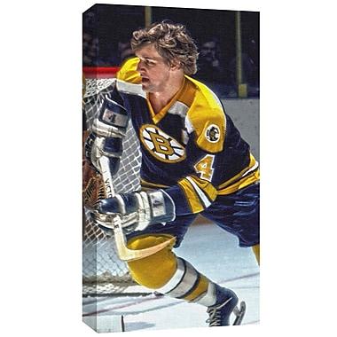 Bobby Orr des Bruins de Boston, toile, « patinant »