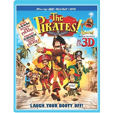 The Pirates! Band of Misfits 3D (3D Blu-Ray + Blu-Ray + DVD)