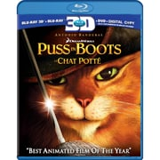 Puss In Boots 3D (3D Blu-Ray + Blu-Ray + DVD + copie numérique)