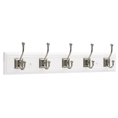 27 inch Architectural Coat Rack with 5 Architectural Hooks