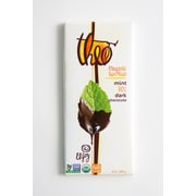 Theo Chocolate Organic Fair Trade Mint Dark Chocolate Bars, 3 oz. Bars, 12/Pack