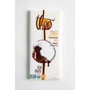 Theo Chocolate Organic Fair Trade Toasted Coconut Dark Chocolate Bars, 3 oz. Bars, 12/Pack