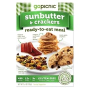 GoPicnic Ready-To-Eat Meals Sunbutter+Crackers, All-Natural, 3.6 oz., 6/Pack