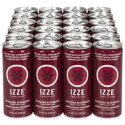 Izze All Natural Sparkling Juice, Blackberry, 8.4 oz. Can, 24/Pack