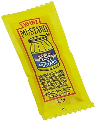 Heinz Mustards, 0.5 oz., 600/Pack