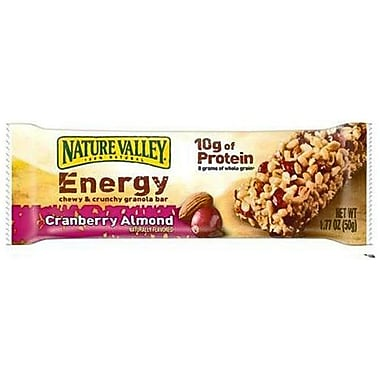 Nature Valley Cranberry Almond Recharge Chewy & Crunchy Granola Bars, 1.77 oz., 30/Pack