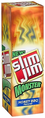 Slim Jim Monster Honey BBQ Meat Sticks, 1.94 oz. 18/Pack