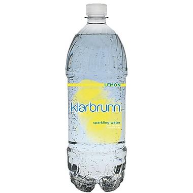 Klarbrunn Lemon Flavor Sparkling Water, 20 oz. Bottle, 24/Pack