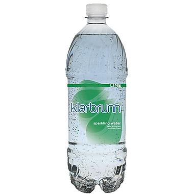 Klarbrunn Lime Flavor Sparkling Water, 20 oz. Bottle, 16/Pack