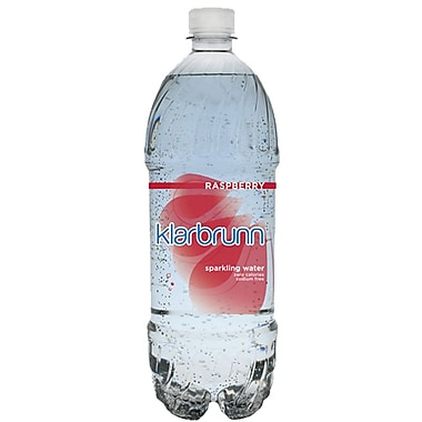 Klarbrunn Raspberry Flavor Sparkling Water, 20 oz. Bottle, 24/Pack