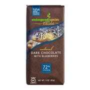 endangered species 3 oz. All-Natural 72% Cocoa Dark Chocolate With Blueberries, Sea Turtle, 12/Pack