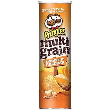 Pringles Potato Crisps, Multi Grain Farmhouse Cheddar, 6.63 oz. Can, 8/Pack
