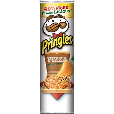 Pringles Potato Crisps, Pizza, 5.96 oz. Can, 12/Pack