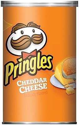 Pringles Potato Crisps, Cheddar Cheese, 2.5 oz. Can, 24/Pack