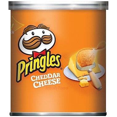 Pringles Potato Chips, Cheddar Cheese, 1.41 oz., 36/Pack