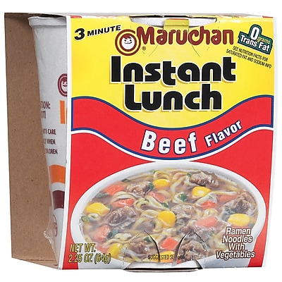 Maruchan Beef Instant Lunch, 2.25 oz., 48/Pack