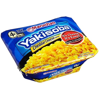 Maruchan Home-Style Japanese Noodles, Cheddar Cheese, 3.96 oz., 16/Pack