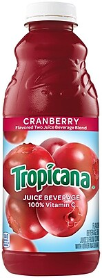 Tropicana Cranberry Juice, 32 oz., 12/Pack