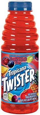 Tropicana Twister Fruit Punch Juice, 20 oz. Plastic Bottle, 24/Pack