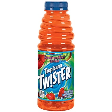 Tropicana Twister Strawberry/Kiwi Juice, 20 oz. Plastic Bottle, 24/Pack