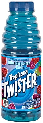 Tropicana Twister Blue Raspberry Juice, 20 oz. Plastic Bottle, 24/Pack